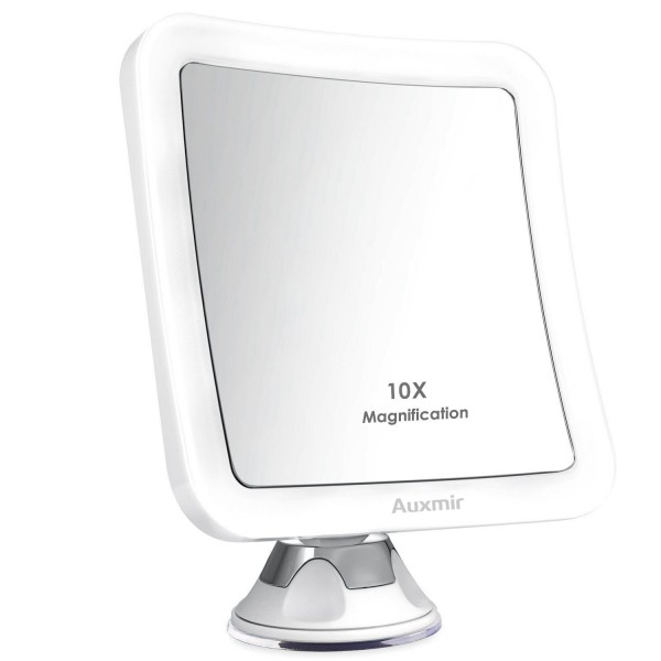 Auxmir 10x Magnifying Led Lighted, Battery Makeup Mirror
